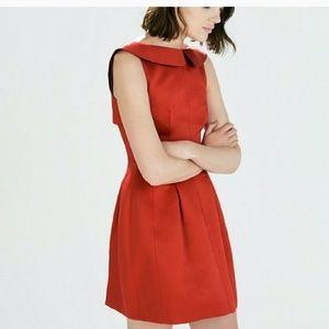 Zara red collared dress